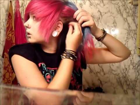 emo scene hair tutorial
