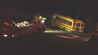 News Chopper 12 above Kewaskum school bus crash