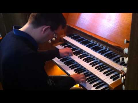 Paul Carr plays Allegro from JS Bach's Trio Sonata 5 at Holy Trinity Wordsley, West Midlands, UK