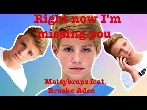 """MattyBraps """"right Now I'm Missing You"""" Ft. Brooke Adee"""