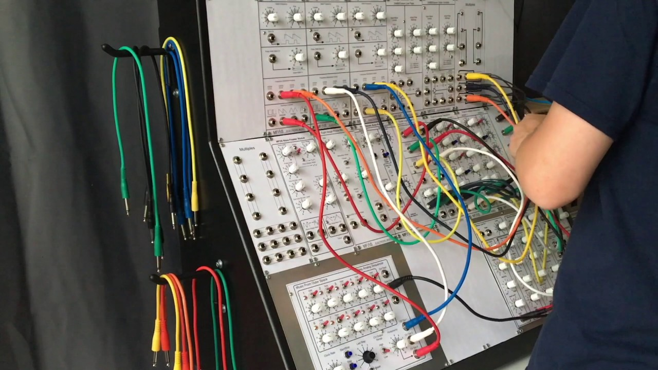 mfos diy modular synthesizer demo youtube. Black Bedroom Furniture Sets. Home Design Ideas