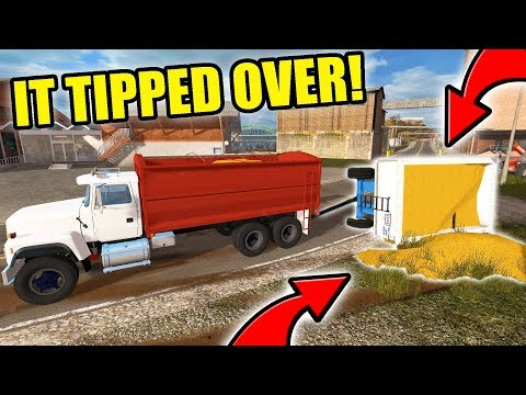 WE TIPPED THE GRAVITY WAGON | FARMING SIMULATOR 2017 | EP #14