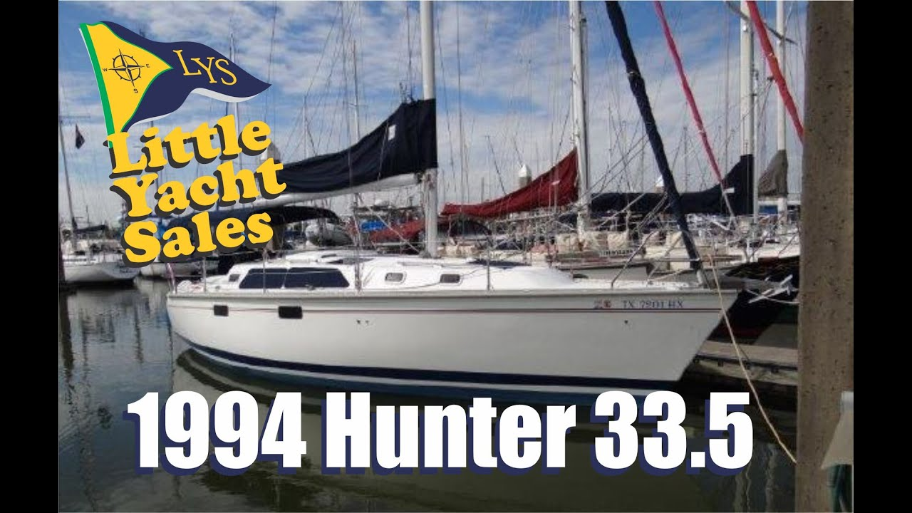 Sold 1994 Hunter 33 5 Sailboat For Sale At Little Yacht Sales Kemah Texas