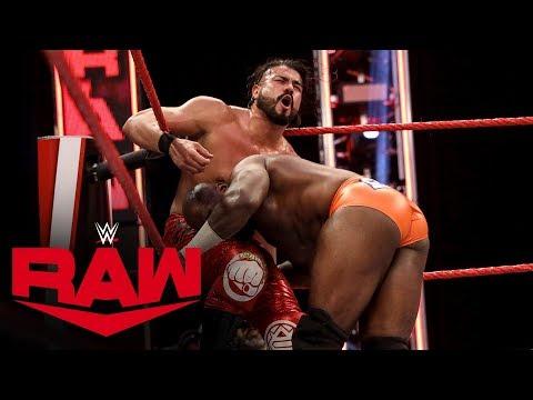 Andrade vs. Apollo Crews – United States Championship Match: Raw, April 27, 2020