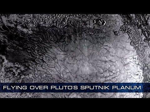 Flying over Pluto's Sputnik Planum