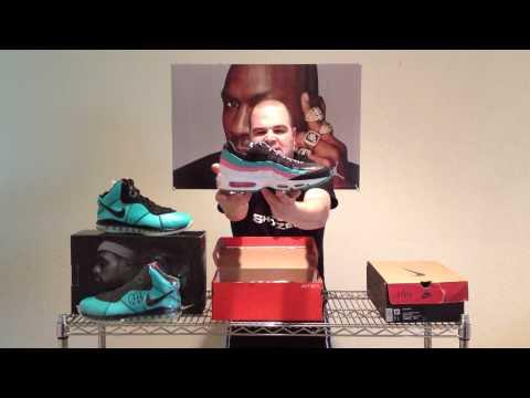 ShoeZeum Nike LeBron Pre Heats, Miami Vice 95s, And Miami Heat Air Bakins