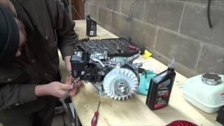 normal speed rebuild of the honda 5 5hp engine and a start