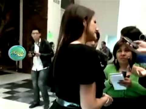 Mónica Hoyos apareció con vestido roto, mal peinada y con moretón ante la prensa 14/12/2011