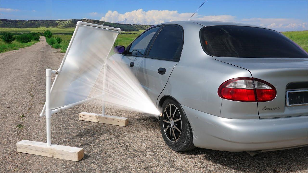 Download Experiment: GIANT LENS vs CAR TIRE
