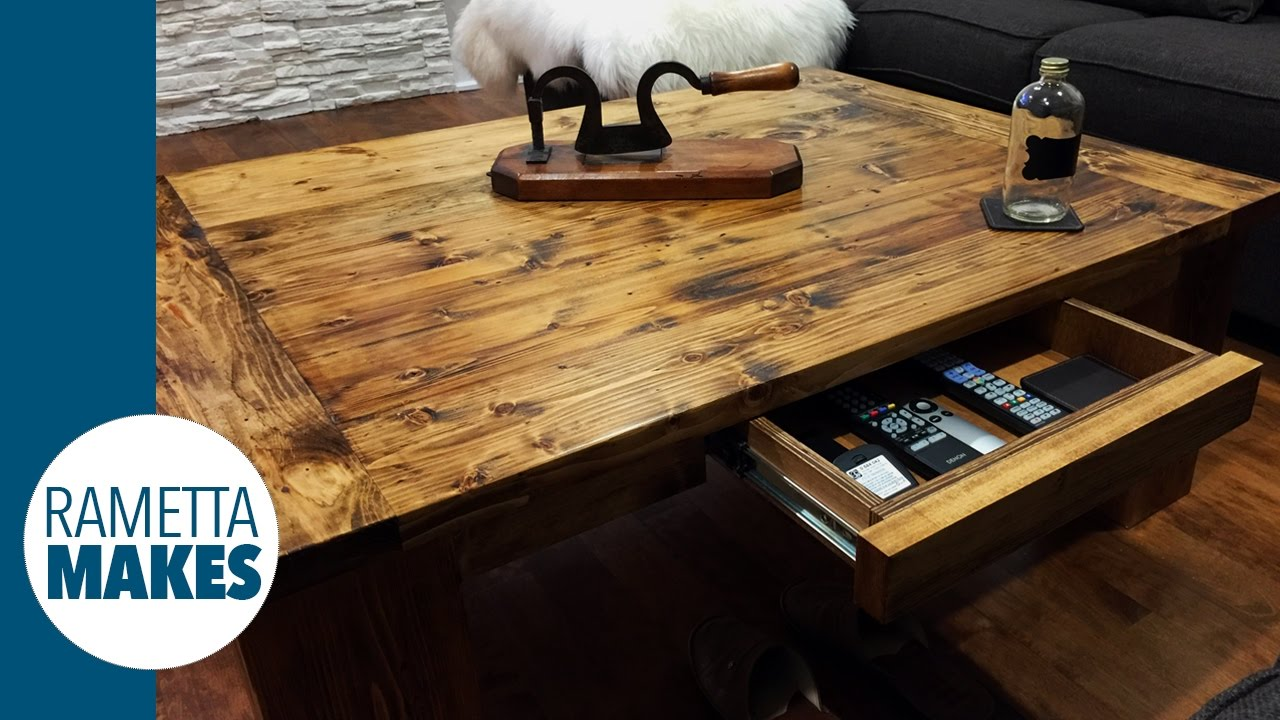 how to build a coffee table // diy - youtube
