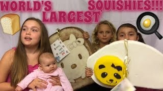 🍞WORLD'S LARGEST SQUISHIES!!!🍳 | CELEBRATING 7,000 SUBSCRIBERS!!!🎉🎉🎉