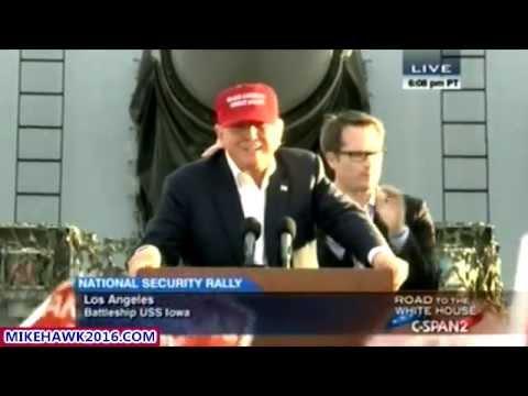 Donald Trump On The Battleship USS Iowa