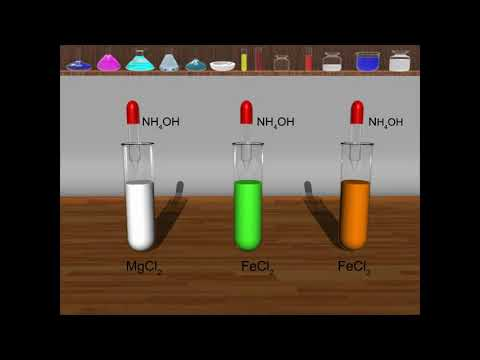 TEST FOR MAGNESIUM(Mg2+) ,FERROUS(Fe2+) & FERRIC(Fe3+) Ions Using NH4OH Sol.(3-D Animation)