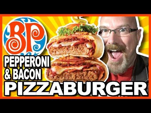 Pepperoni & Bacon PIZZABURGER from Boston Pizza