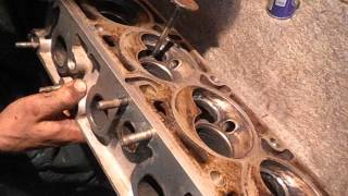 ремонт двигателя опель вектра А  Ч 1 притираем клапана