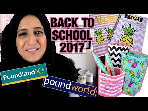 POUNDLAND & POUNDWORLD STATIONERY HAUL | BACK TO SCHOOL 2017 | Shamsa
