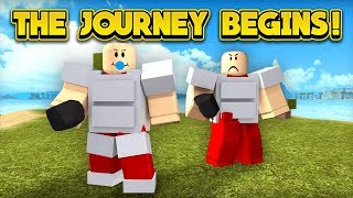 THE JOURNEY BEGINS! (ROBLOX Booga Booga)