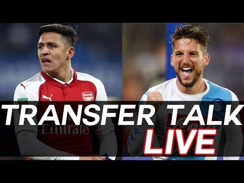 UNITED To Steal ALEXIS SANCHEZ Transfer from City? + Dries Mertens and More - TRANSFER TALK LIVE!