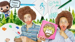 How To Create BOB ROSS Halloween Costume & Play Happy Little Accidents Game