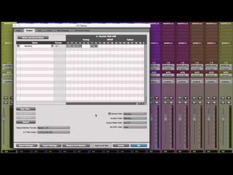 Setting up to Mix in Surround in Pro Tools