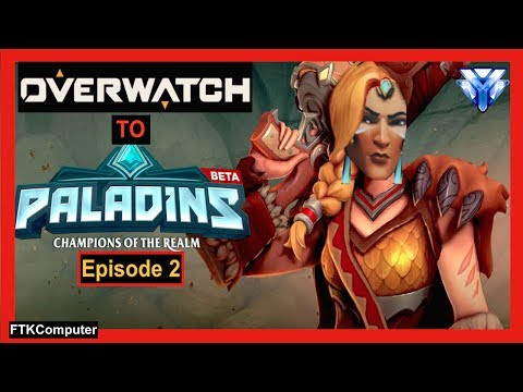 Overwatch Main Plays His First REAL Paladins Match! (It's No