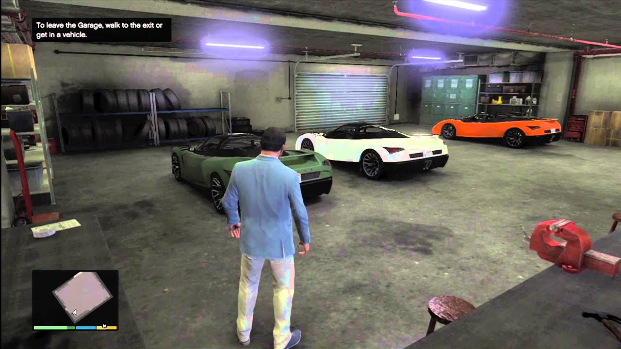 Gta 5 best looking garage on gta v rare cars youtube for Garage best auto