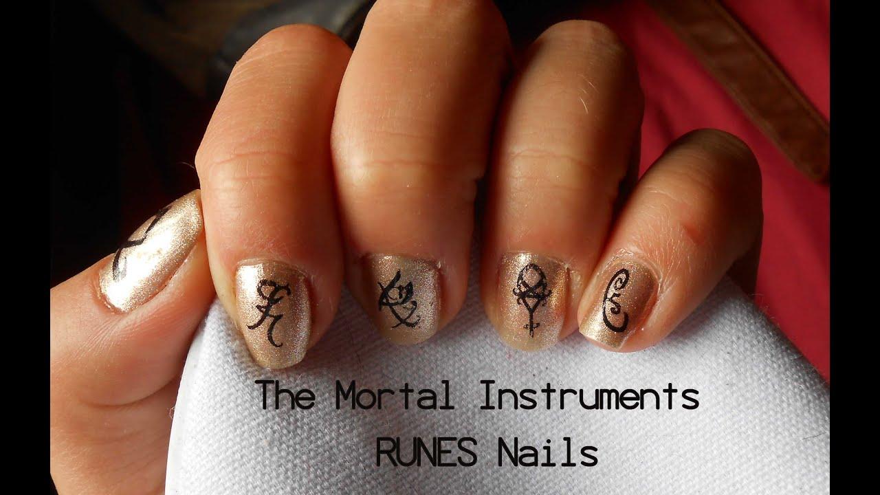 Runes Nails Shadowhunter The Mortal Instruments Youtube