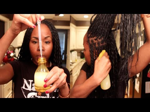 DIY Moisturizing Braid Spray & After Workout Refresher || Simple DIY Hair Mixture