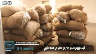 مصر العربية | شركة إيزيس: نصدر50% من الانتاج إلى الاتحاد الأوربي