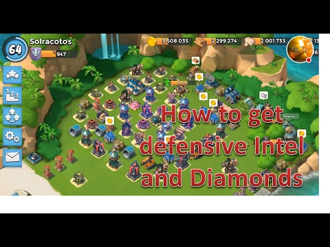 How do I get diamonds and intel + 90% of the time | Sol's booby trap base layout | Boom Beach