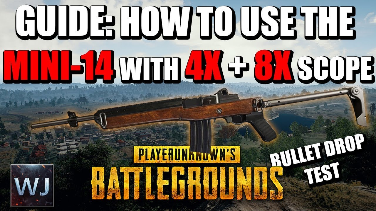 Download GUIDE: How to use the MINI-14 with the 4x + 8x SCOPE in PLAYERUNKNOWN's BATTLEGROUNDS (PUBG)