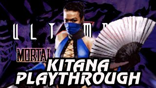 Ultimate Mortal Kombat 3 Arcade Kitana Playthrough @720p 60fps