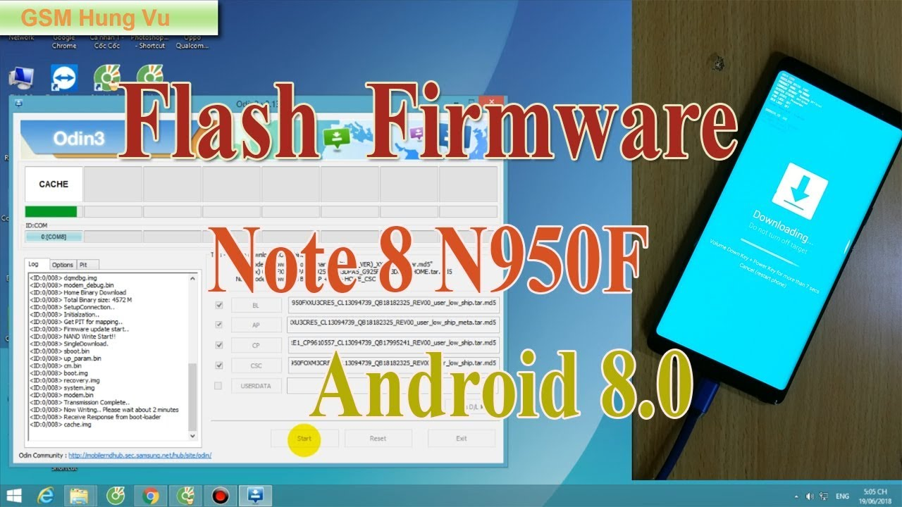 0 8 Firmware 8 Note N950f 13 3 Android Samsung Odine Flash 1 By