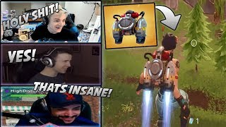 Streamers React To/Use New Jet Pack In-Game! Ninja, CDNThe3rd, DrLupo, Dakotaz...