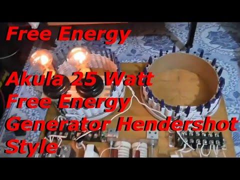 Free Energy - Akula 25 Watt Generator Hendershot Style on