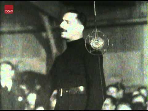Oswald Mosley giving a Fiery speech at a Manchester blackshirt rally