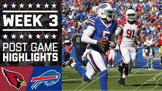 Cardinals vs. Bills | NFL Week 3 Game Highlights