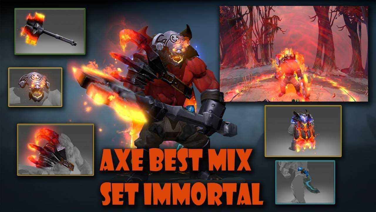 Dota 2 Immortal 12: Dota 2 Axe Best Immortal Set Mix