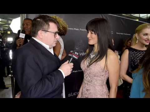 'Scorpion King' sorceress Kelly Hu interviewed at Sue Wong LAFW Event