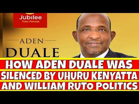 Aden Duale Silenced By Uhuru Kenyatta and William Ruto Politics in Jubilee party