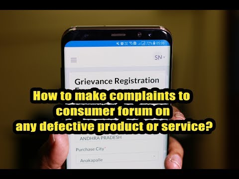 How to make complaints to consumer forum on any defective product or service?