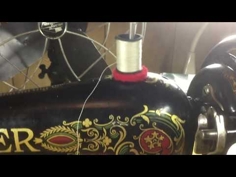 The Singer 66 lock-stitch sewing machine and how to use it.