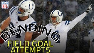 Craziest bending field goals attempts of all-time | nfl highlights