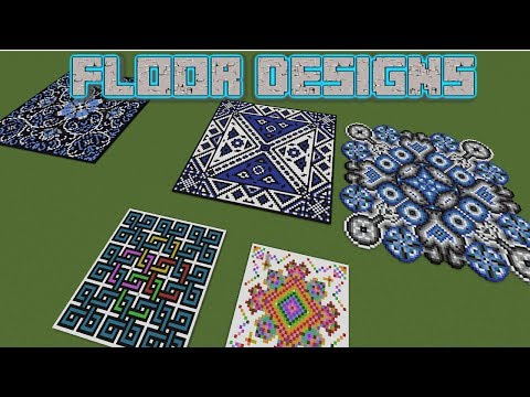 Minecraft - 5 Giant Floor Designs - YouTube