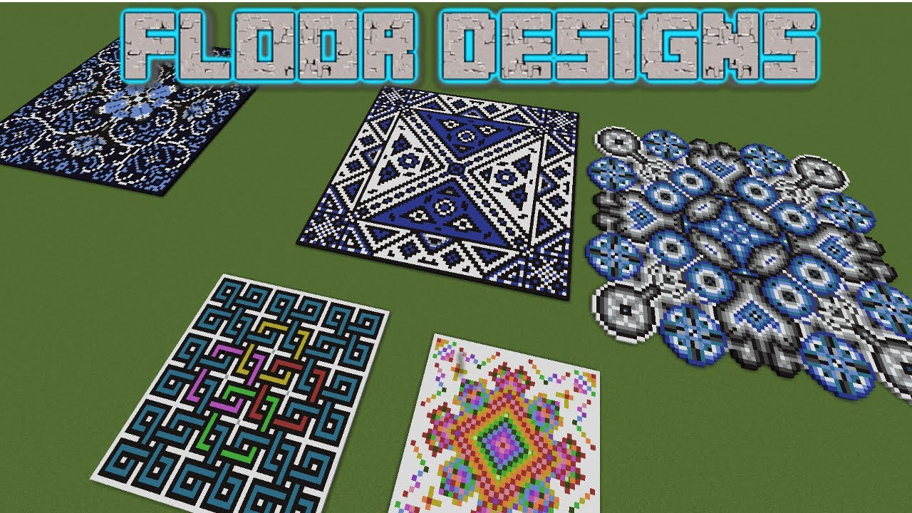 Minecraft 5 Giant Floor Designs Youtube
