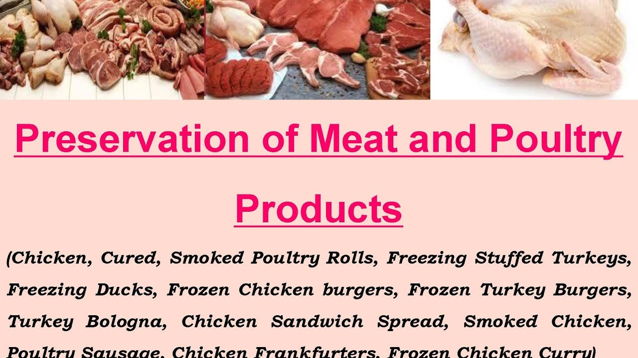 Preservation of Meat and Poultry Products