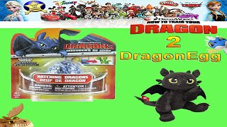 How To Train Your Dragon 2 Toys Mystery Egg Toothless Toy Review - unboxing Giveaway