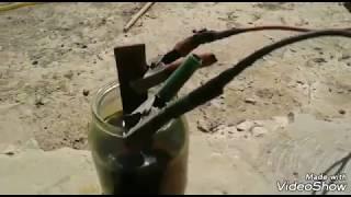 Осадок из ржавый глины и осаждение электролизом
