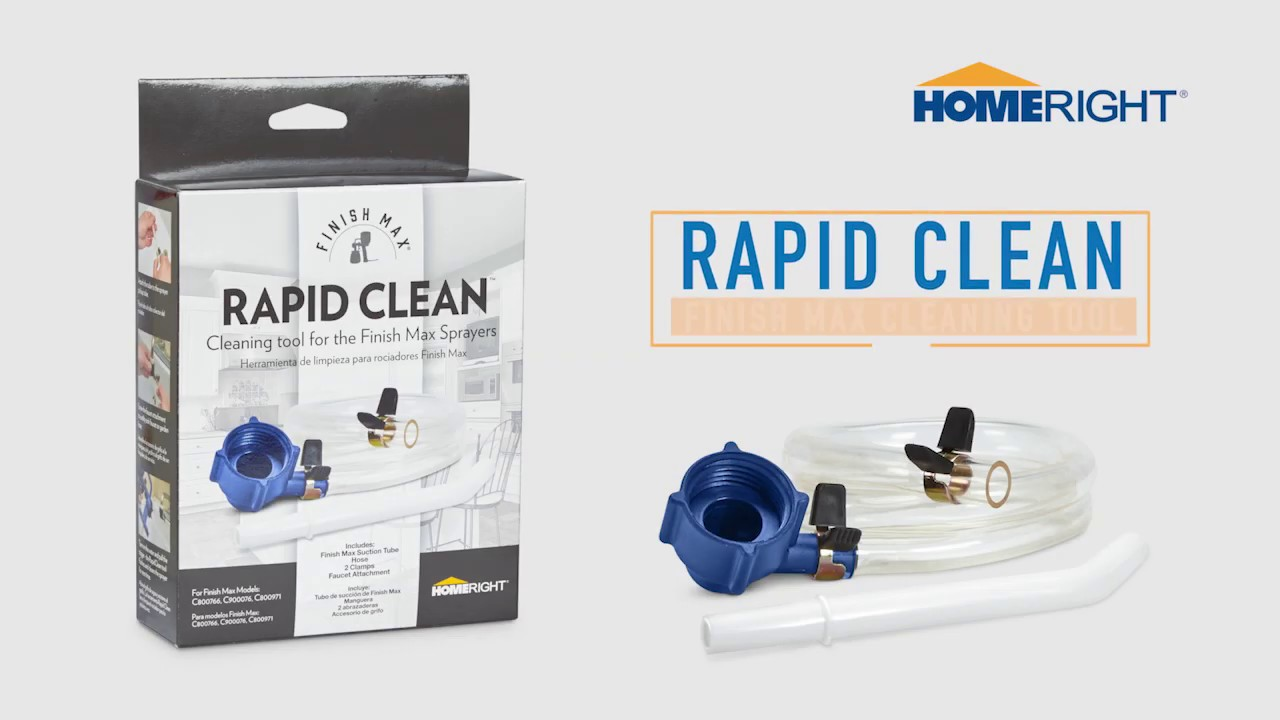 How To Use The Rapid Clean To Clean Your Homeright Sprayer