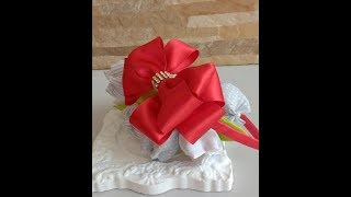 Como fazer canudo de cetim para encapar tiara